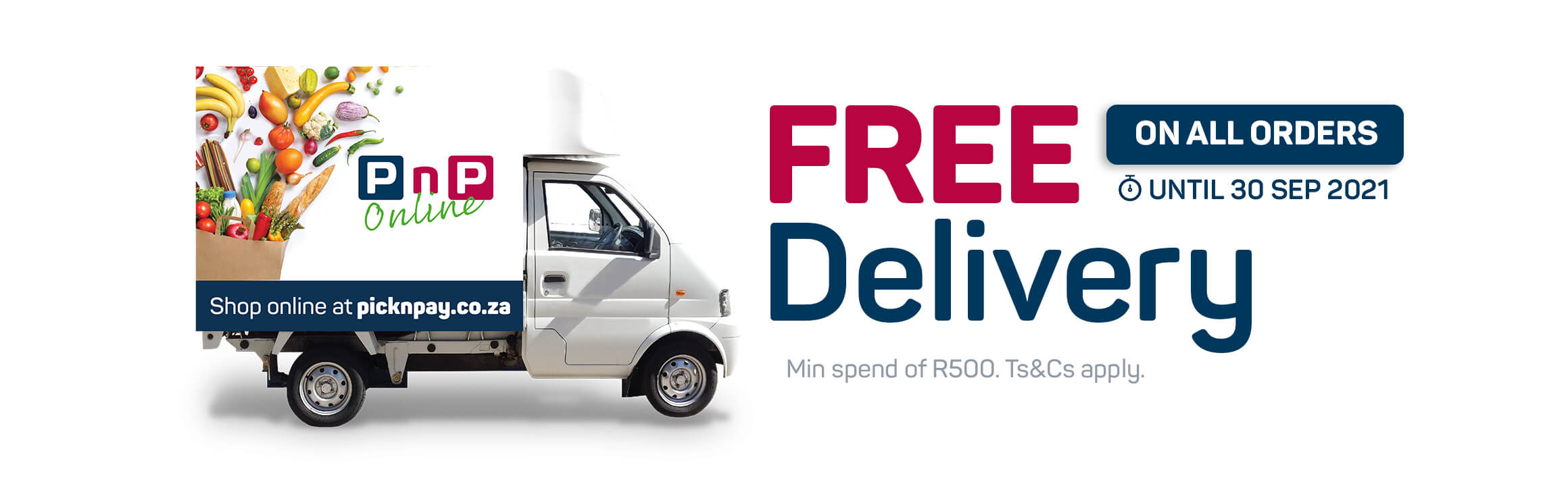 Free delivery on all orders until 30 September 2021