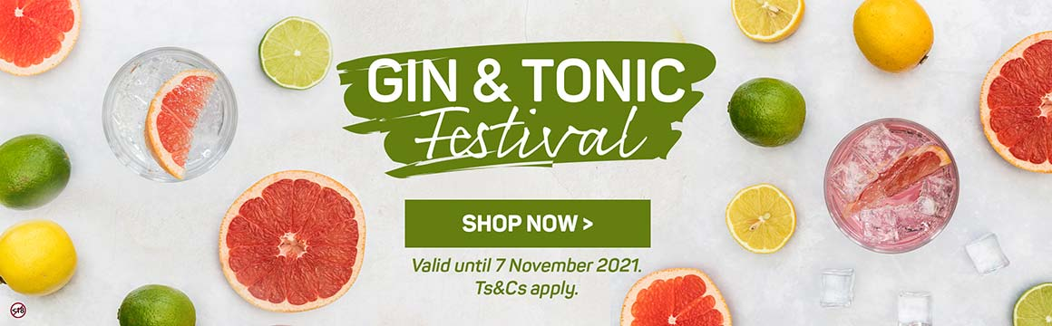 Gin and tonic festival. Shop now >