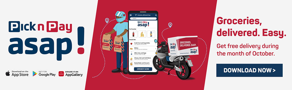 Groceries, delivered. Easy. Download now >