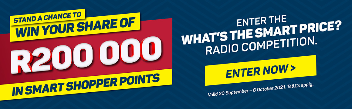 Stand to win your share of R200000 in Smart SHopper points
