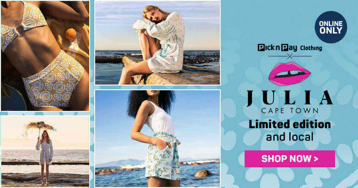 Julia Cape Town Limited edition and local. Shop now >