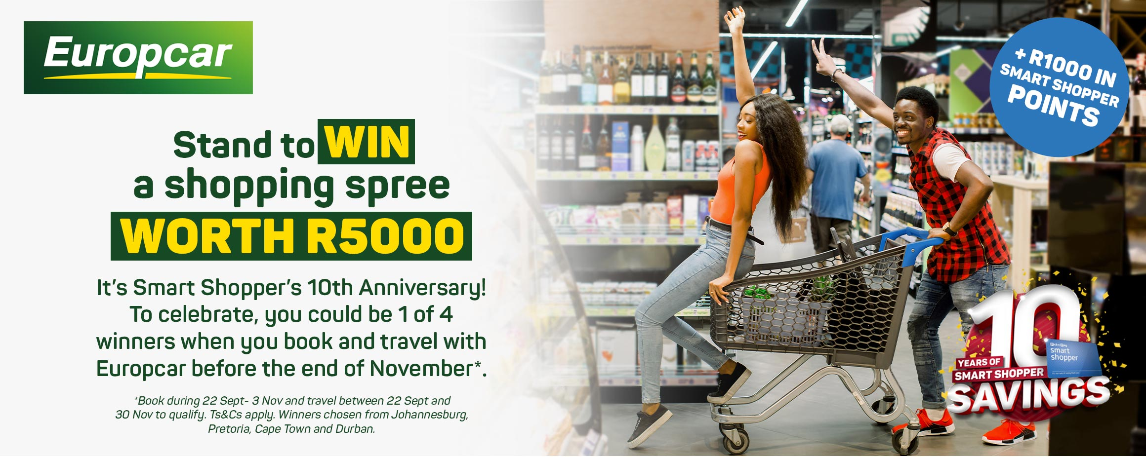 Stand to win a shopping spree worth R50000