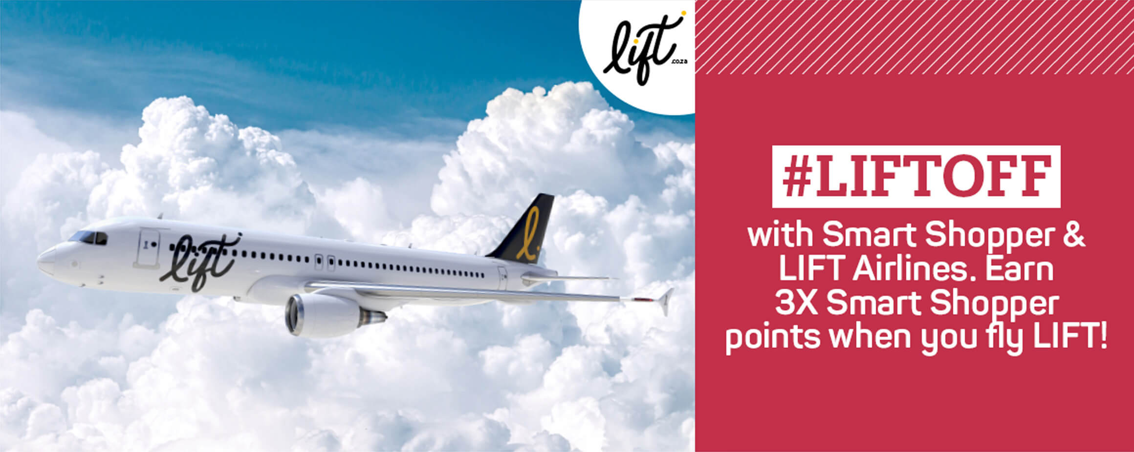 #LIFTOFF with Pick n Pay Smart Shopper & LIft Airlines. Earn 3x Smart Sjopper points when you fly lift!