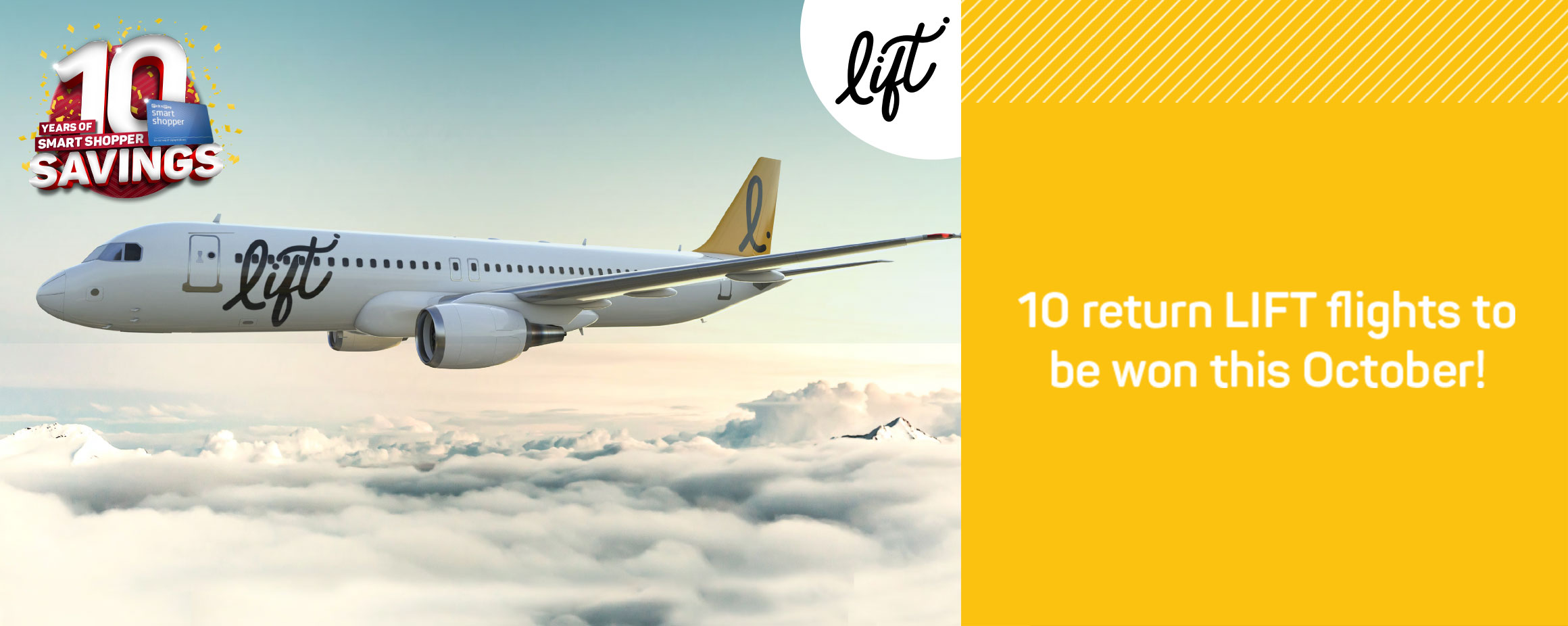 10 return LIFT flights to be won this October!