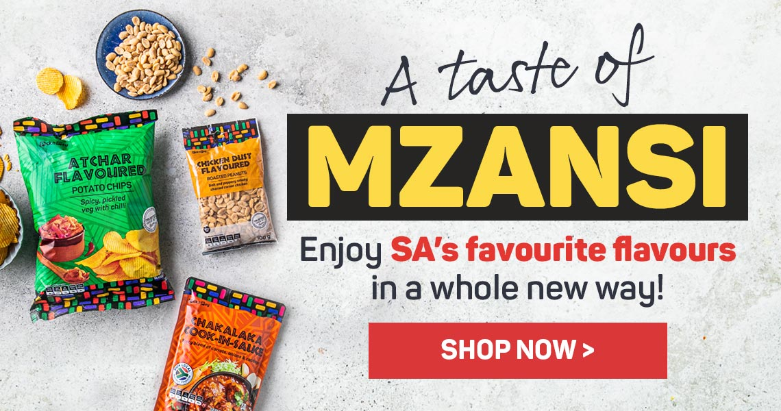 A taste of Mzansi. Enjoy SA's favourite flavours in a whole new way! Shop now >