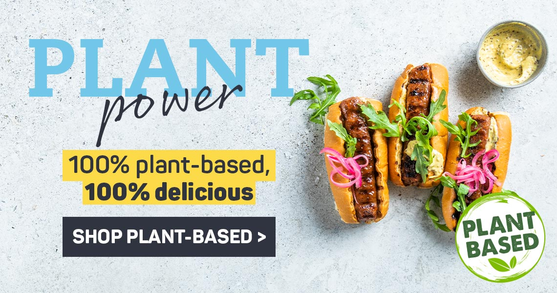 Plant power. 100% plant-based 10% delicious. Shop plant-based >