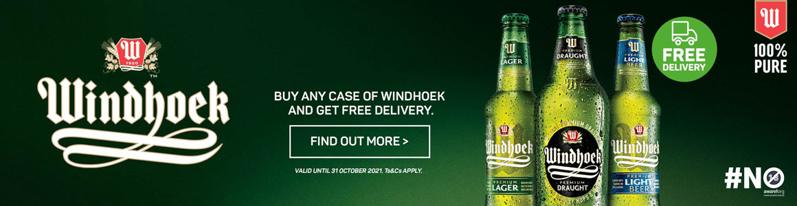 Buy any case of Windhoek and get free delivery