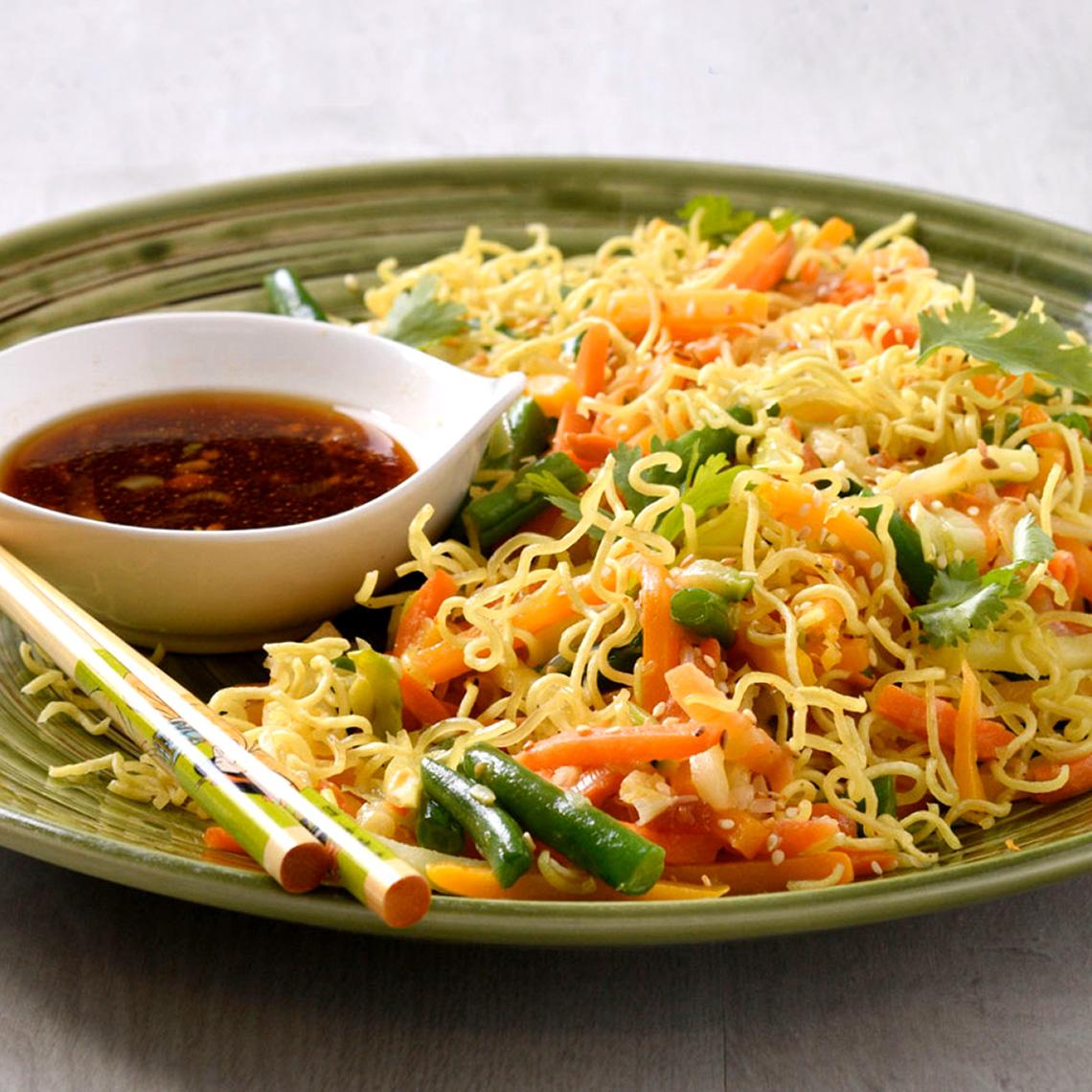 Crispy vegetable salad
