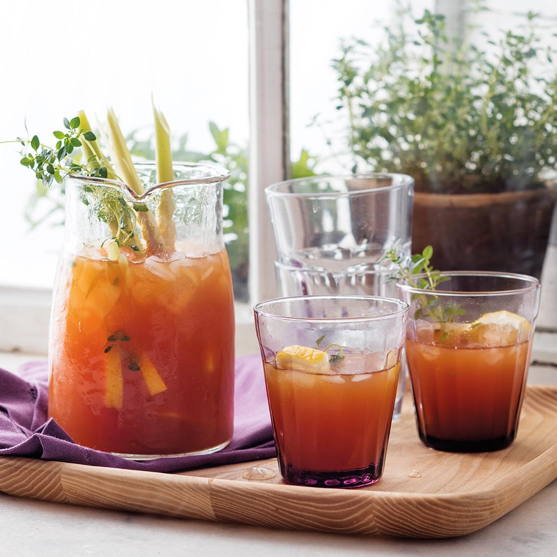 Lemongrass and ginger herb tea