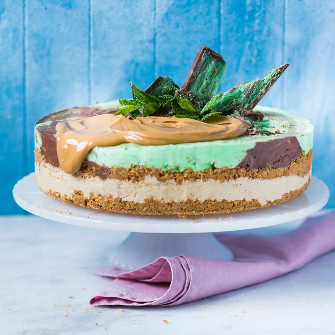 Peppermint Crisp® ice-cream cake