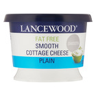 Lancewood Fat Free Smooth Plain Cottage Cheese 250g