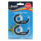 Bostik Clear Tape Dispenser Value Pack 2s