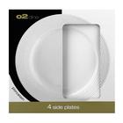 O2 Dine Side Plate White Embossed Swirl