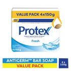 Protex Fresh Antigerm Soap Bar - 4 Pack, 150gr