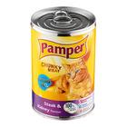 Purina Pamper Steak & Kidney Tinned Cat Food 400g