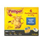 Pamper F/cuts Jelly Ocean Fish 6x85g