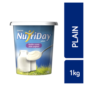 Danone Nutriday Double Cream Plain Yoghurt 1kg