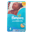 Pampers Active Baby Nappies Maxi Jumbo Pack 66s