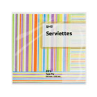 PnP 2 Ply Serviettes Striped 20s