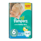 Pampers Active Baby Nappies XL Jumbo Pack 44s