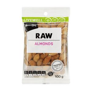PnP Almonds Raw 100g
