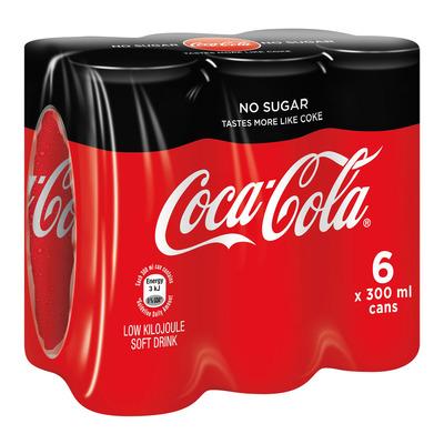 Coca-Cola Zero Can 300ml x 6   Pack   Unit of Measure   Pick