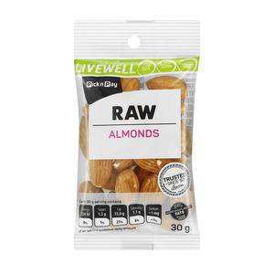 PnP Live Well Raw Almonds 30g