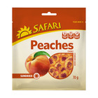 Safari Cling Peaches Dried Fruit Snack Pack 70g