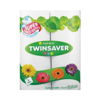 Twinsaver Roller Towel 2ply C/white 2ea