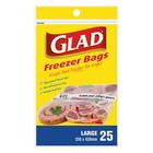 Glad Large Freezer Bags 330 X 420mm 25