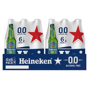 Heineken Lager 0.0% Non-Alcoholic 330ml x 24