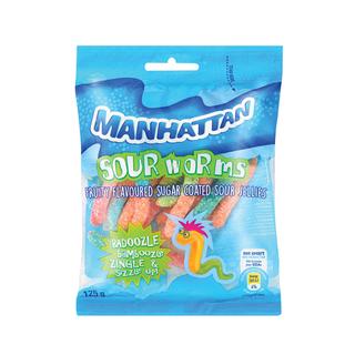 Manhattan Jellyland Sour Worms 125g