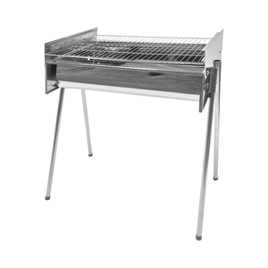 Grill Chef Charcoal Braai Adjustable Large Stainless Steel