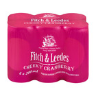 FITCH&LEEDES CHEEKY CRANBERRY CAN 200ML x 6