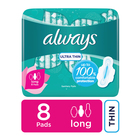 Always Ultra Sanitary Pads Long 8s