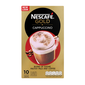 Nescafe Gold Cappuccino Sachets 10s