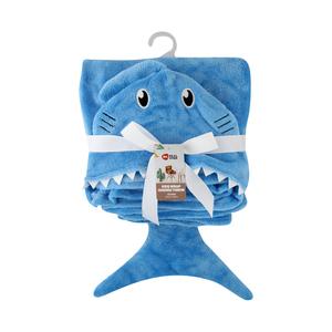Real Home Kids Wrap Monster Hoodie Blue