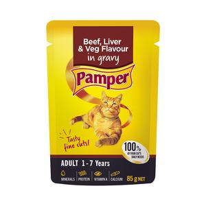 Pamper F/cuts Beef Liver&veg 85g