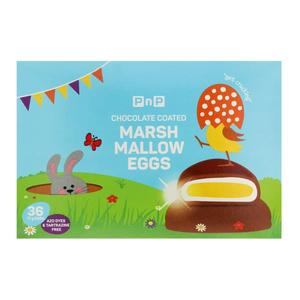 PnP Chocolate Coated Marshmallow Eggs 36s