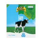 First Choice UHT Skim Milk 1l x 6