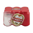 Castle Lager Beer Can 330ml x 6
