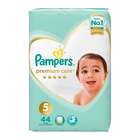Pampers Premium Care Nappies Size 5 Value Pack 44s