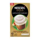 Nescafe Cappuccino Hazelnut Sachets 10s