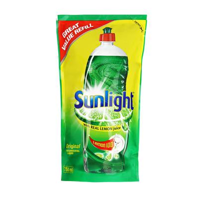 Sunlight Lemon 100 Dishwashing Liquid Pouch 750ml | each | Unit of