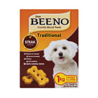 Beeno Biscuit Treats Steak Flavour for Small/Medium Dogs 1Kg