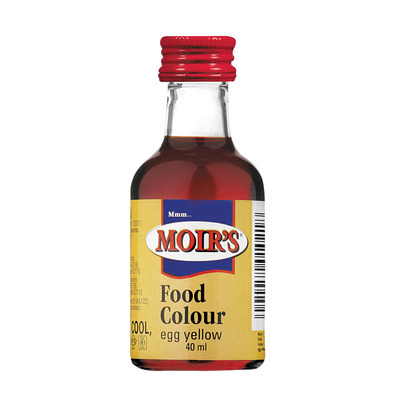 Moir\'s Egg Yellow Food Colouring 40ml | each | Unit of Measure ...