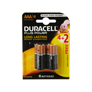 Duracell Power Plus AAA 4+2