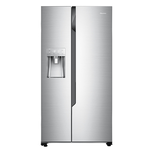 Hisense Inox Side By Side Fridge 700l With Water & Ice Dispenser