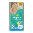 Pampers Active Baby Dry Nappies Size 6 Giant Pack 56s