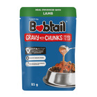 Bobtail Lamb Chunks in Gravy Dog Food 85g